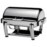 Smart Buffet Ware 1A1231CHC - Oblong Chafer - Full Size - Roll Top