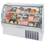 "Beverage Air CDR4/1-S-20 - 49"" Curved Glass Deli Display Case"