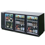Beverage Air BB72GY-1-B - Back Bar Cooler - Three Glass Swing Doors