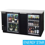 Beverage Air BB68G-1-B - Back Bar Cooler - Two Glass Swing Doors