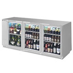 Beverage Air BB72GY-1-S - Back Bar Cooler - Three Glass Swing Doors