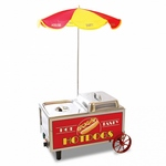 Bench Mark 60072 - Countertop Hot Dog Steamer Mini Cart with Umbrella