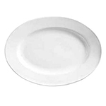 "World Tableware 840520R15 Wide Rim Platter 15.5"" European White"