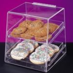 Cal-Mil 280 - Acrylic Display Case - Slant Front - Rear Door - 2 Trays