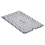 Cambro 10CWCHN135 - Notched Food Pan Cover with Handle - Full Size - Clear