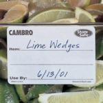 "Cambro 1252SLB250 - Disolvable Food Rotation Labels - 1-1/4"" x 2"""