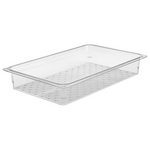 """Cambro 13CLRCW135 - Colander Insert - Full Size x 3"""" Deep - Clear"""