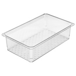 """Cambro 15CLRCW135 - Colander Insert - Full Size x 5"""" Deep - Clear"""