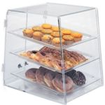 Gold Leaf BDT3 - Clear Acrylic Bakery Case - Slant Front - Three Tier