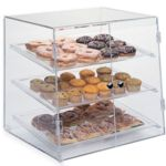 Gold Leaf BDT3XSS - Clear Acrylic Bakery Case - Three Tier