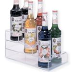 Aubright SBH3 - Three Tier Acrylic Syrup Bottle Holder