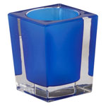 Candle Lamp 890 - Square Glass Table Lamp
