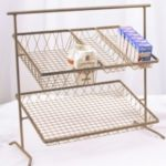 Dover D-875br+BSKTS - 2-Tier Metal Stand - with 4 Removable Baskets
