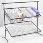 Dover D-875n+BSKTS - 2-Tier Metal Stand - with 4 Removable Baskets