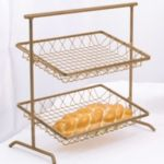 Dover D-810Abr+BSKTS - 2-Tier Metal Stand - 2 Removable Wire Baskets