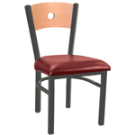 Eukya CH215K-GR2-CA - Moon Back Metal Frame Chair