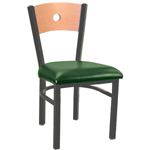 Eukya CH215K-GR3-CA - Moon Back Metal Frame Chair