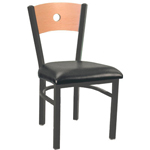 Eukya CH215K-GR1-CA - Moon Back Metal Frame Chair