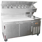 Marsal BM68-S - Pizza Prep Table Supreme - Two Door