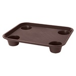 "Get FT-20 - Polypropylene Tray with Recessed Cup Holders - 14"" x 18"""