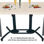 "Grosfillex US819117 - Tilt-Top Lateral Base 100 - 28"" Tall - Black"