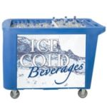 Iowa Rotocast IRP-6050 - Ice Tub Push Cart - Insulated