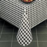 "Marko 5766-58 - 58"" Round Gavin Check II Vinyl Tablecloth"