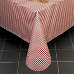 "Marko 5761-64 - 64"" Round Gingham Check II Vinyl Tablecloth"