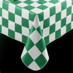 "Marko 5741-46 - 46"" Round Checkered Flag Vinyl Tablecloth"