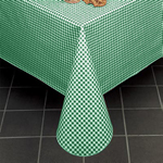 "Marko 5761-70 - 70"" Round Gingham Check II Vinyl Tablecloth"