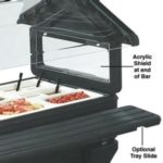 Carlisle 6621 - Six Foot Tray Slide for Six-Star Food Bar