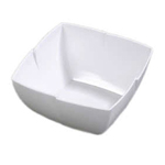 "Carlisle 33312 - 10"" Square Rave Melamine Deli Display Bowl - 4.5Qt."
