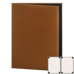 "Risch CH-2V-8.5x11 - Menu Covers - 8-1/2"" x 11"" - Two Panel"