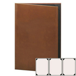 "Risch LTH-3V-8.5x11 - Menu Covers - 8-1/2"" x 14"" - Three Panel"