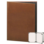 "Risch LTH-4V-8.5x11 - Menu Covers - 8-1/2"" x 11"" - Three Panel"