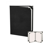 "Risch HAR-ST-6V-5.5x8.5 - Menu Covers - 5-1/2"" x 8-1/2"" - Four Panel"