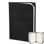 "Risch HAR-ST-6V-8.5x11 - Menu Covers - 8-1/2"" x 11"" - Four Panel"