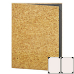 "Risch CORK-2V-8.5x11 - Menu Covers - 8-1/2"" x 11"" - Two Panel"