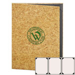 "Risch CORK-3V-8.5x11 - Menu Covers - 8-1/2"" x 11"" - Three Panel"