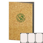 "Risch CORK-3V-8.5x14 - Menu Covers - 8-1/2"" x 14"" - Three Panel"