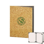 "Risch CORK-4V-5.5x8.5 - Menu Covers - 5-1/2"" x 8-1/2"" - Three Panel"