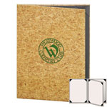 "Risch CORK-4V-8.5x11 - Menu Covers - 8-1/2"" x 11"" - Three Panel"