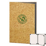 "Risch CORK-4V-8.5x14 - Menu Covers - 8-1/2"" x 14"" - Three Panel"