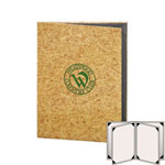 "Risch CORK-6V-5.5x8.5 - Menu Covers - 5-1/2"" x 8-1/2"" - Four Panel"