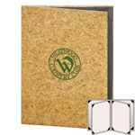 "Risch CORK-6V-8.5x11 - Menu Covers - 8-1/2"" x 11"" - Four Panel"