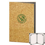 "Risch CORK-6V-8.5x14 - Menu Covers - 8-1/2"" x 14"" - Four Panel"