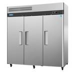 Turbo Air M3R72-3 - Three Door Reach-In Refrigerator - Top Mount
