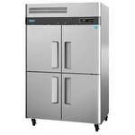 Turbo Air M3R47-4 - Four Half Door Reach-In Refrigerator - Top Mount