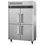 Turbo Air M3F47-4 - Four Half Door Reach-In Freezer - Top Mount
