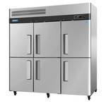 Turbo Air M3F72-6 - Six Half Door Reach-In Freezer - Top Mount